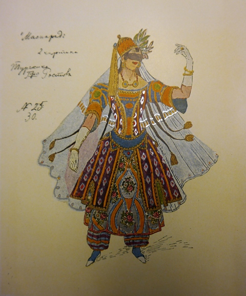Costume from 'Maskerade' for a woman with hat and veil