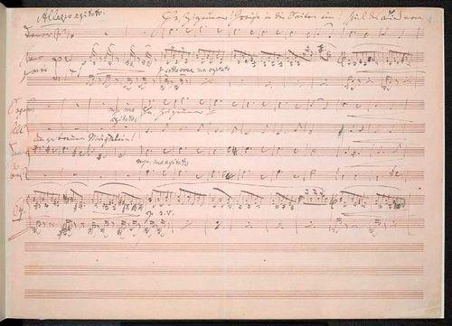 First page of Brahms's 'Zigeunerlieder' manuscript