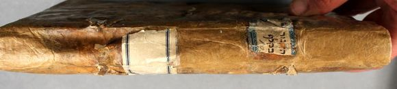 The spine has been repaired and the covering material now fully protects the textblock.