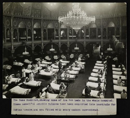 Hospital beds in Brighton Dome