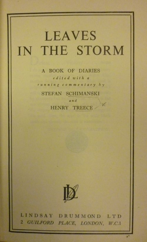 Title page of Leaves in the storm