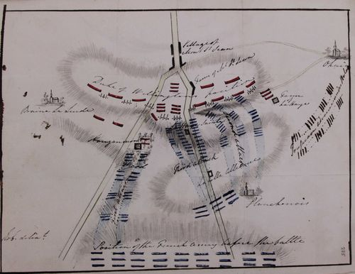Waterloo - plan of battlefield