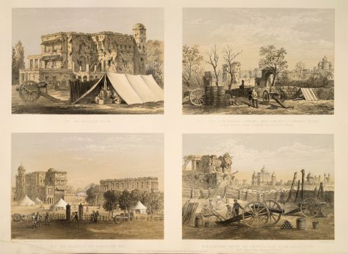 Four views of the city of Lucknow