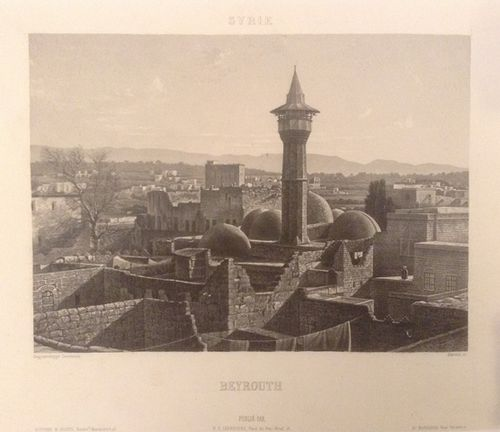 Daguerrotype of the view across the rooftops of Beirut