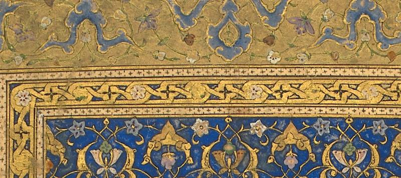 Divan of Hafez Saʻd copied for Pir Budaq, 1459 (Or.11846, detail of f. 1v)