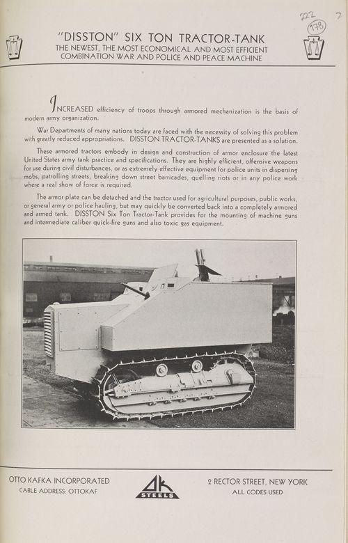 Disston Six Ton Tractor-Tank