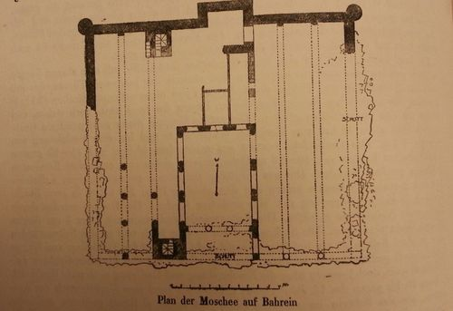 Plan of mosque in Manama