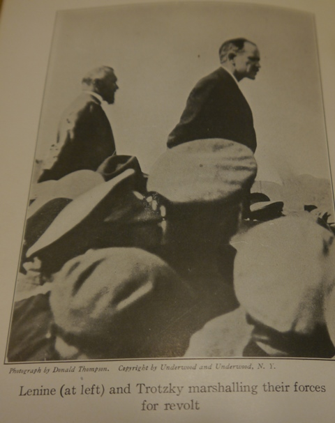 Photograph of two men captioned 'Lenin and Trotzky'