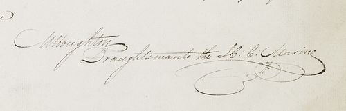 Houghton's signature, in the introduction to his 'Memoir'