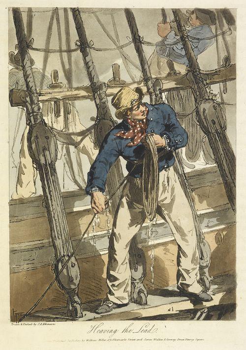 Sailor heaving the lead