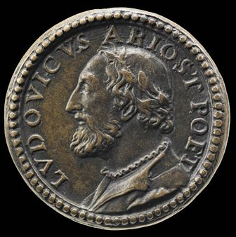 Bronze medal with a portrait of Ariosto
