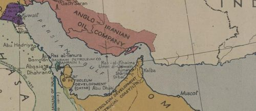 Oilfields map of the Middle East