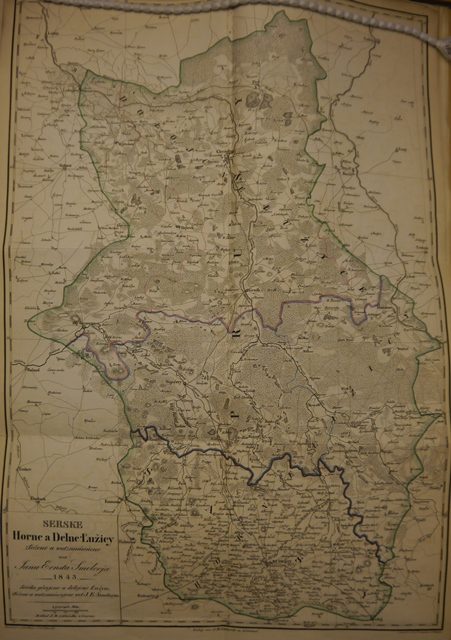 A 19th-century map of Lusatia