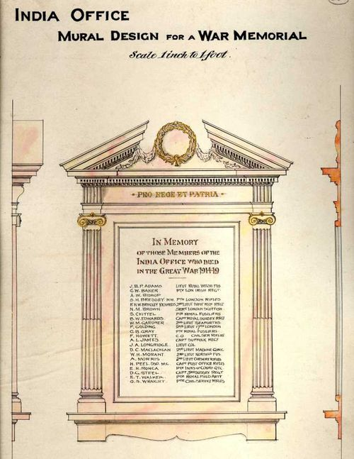 World War I memorial - final design