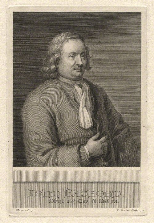 Engraving of John Bagford by George Vertue