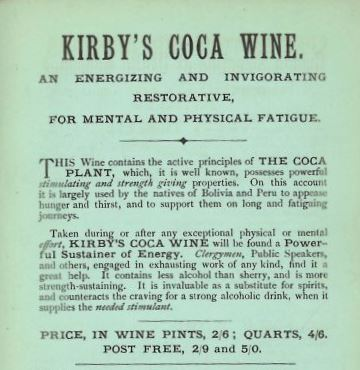 Advert for Kirby's Coca Wine