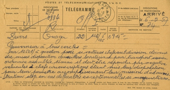 Close up of a telegram