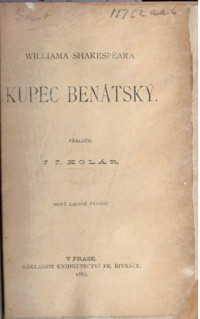 Czech Shakespeare Merchant of Venice