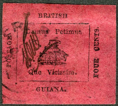 British Guiana 4-Cent Magenta stamp