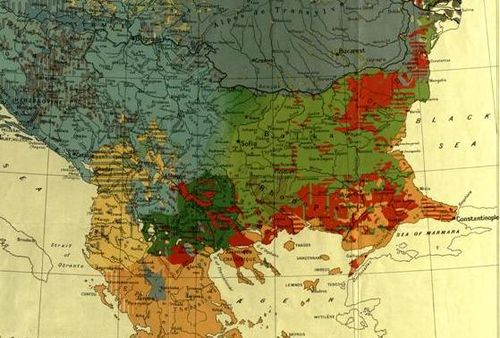 Map of the Balkan Peninsula in 1920