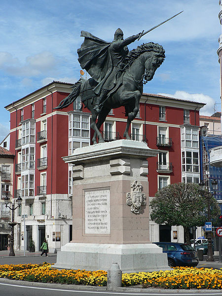 Statue of The Cid on horseback in Burgos