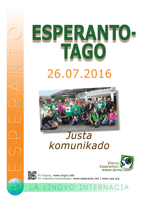 Poster for Esperanto Day 2016