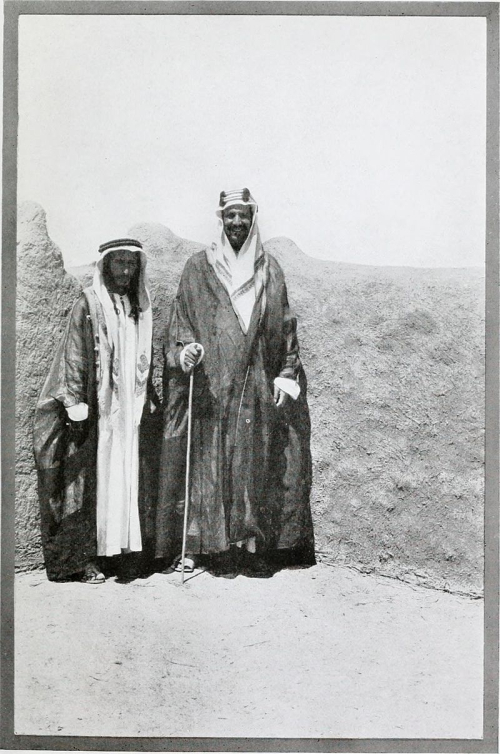 Photograph of Ibn Sa'ud with his cousin Salman Al-'Arafa