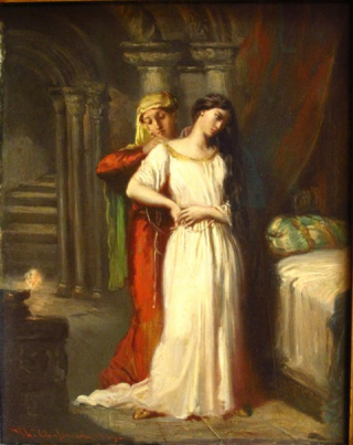 CM DELACROIX 11 Chassériau_-_Le_coucher_de_Desdémone_(1849)