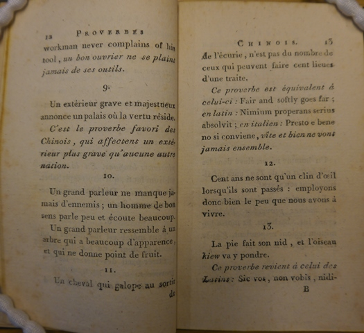 Proverbs and explanations from 'Proverbes et apophthegmes chinois'