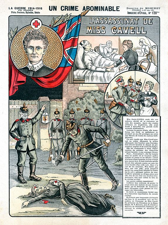 Illustration from a French journal about the death of Edith Cavell
