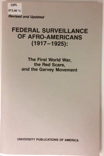 Federal Surveillance of Afro-Americans
