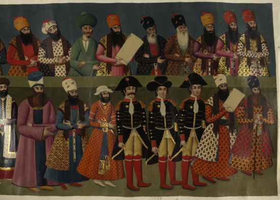 The court of Fath Ali Shah with foreign ambassadors