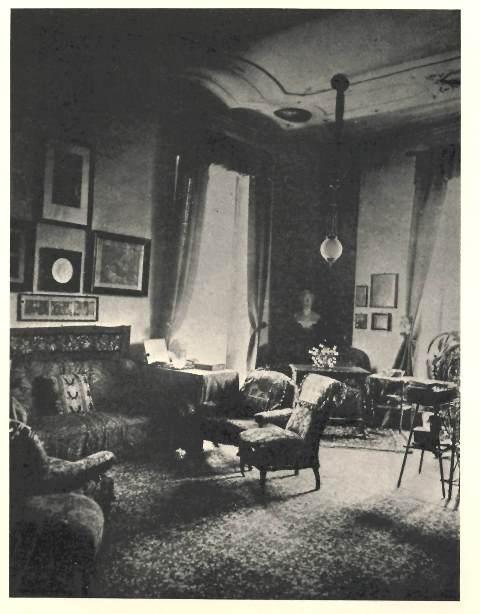Photograph of Malwida's salon in Rome