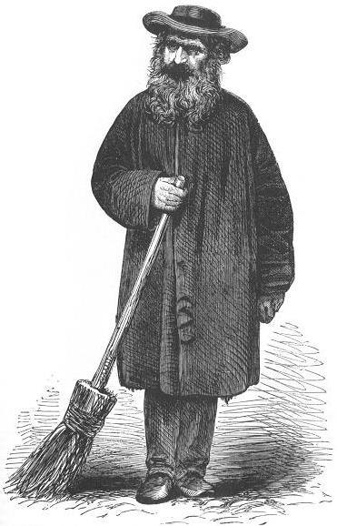 'The Bearded Crossing-Sweeper at the Exchange' from Henry Mayhew, London Labour and the London Poor volume 2.
