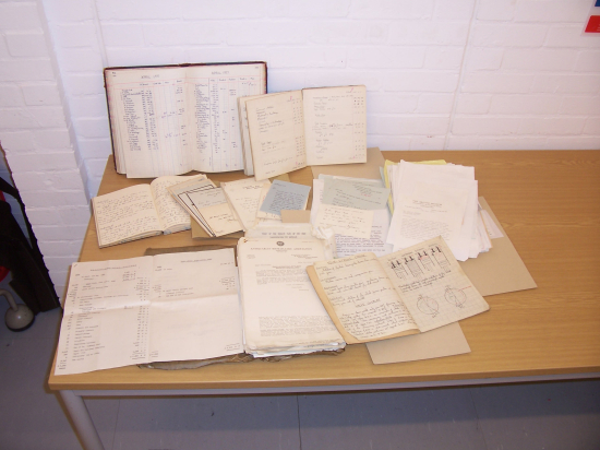 Alan Graydon Thomas archive - display of documents and books