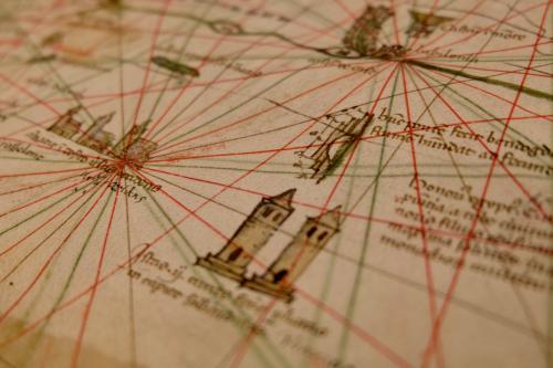 A map by Pietro Vesconte: Add MS 27376*, f. 183r