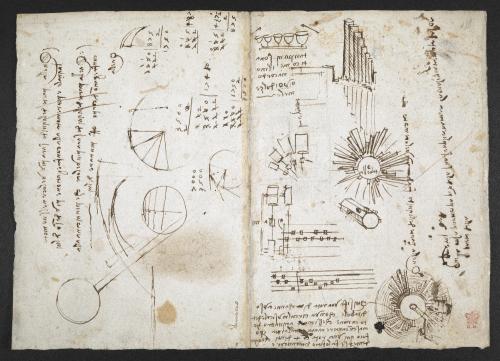 Drawings and 'mirror writing' by Leonardo da Vinci: Arundel MS 263, f. 137v