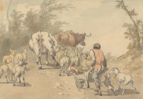 Drove of sheep and cows_EFDSS_Yale