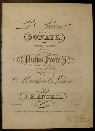 Ansell piano 5 hands sonata title page