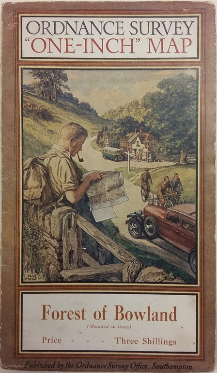 Martin Joined The Ordnance Survey In 1919 During Years That He Was Working Raised Standard Of Map Cover Art To High Levels