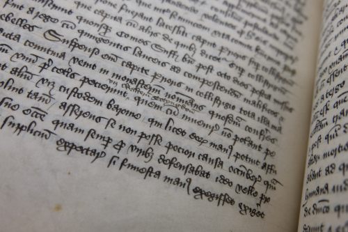 The story of John Lakenheath's death: Cotton MS Claudius A XII, f. 135v.