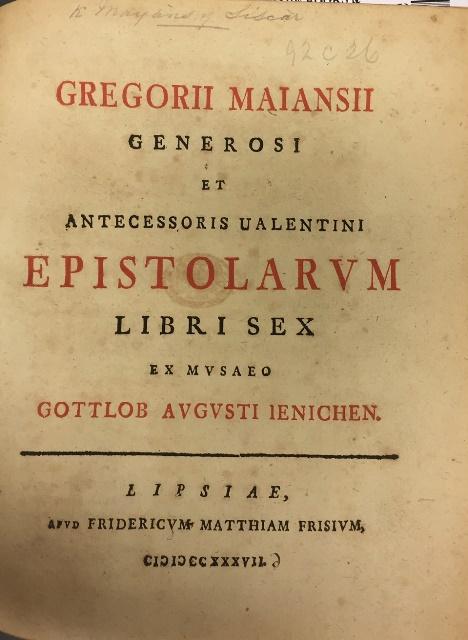 Museo Maiansius 92.c.26