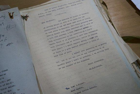 Type-written letter.