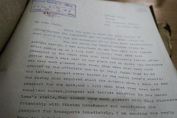 Typewritten letter.
