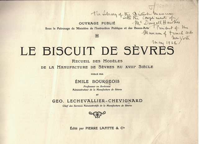 Biscuit de Sèvres tp