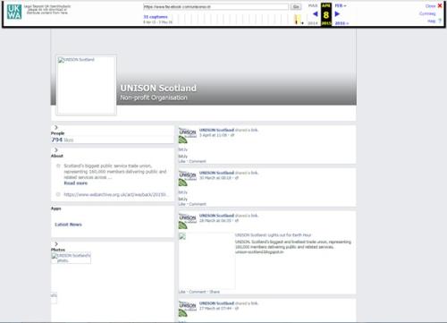 3. Unison Facebook