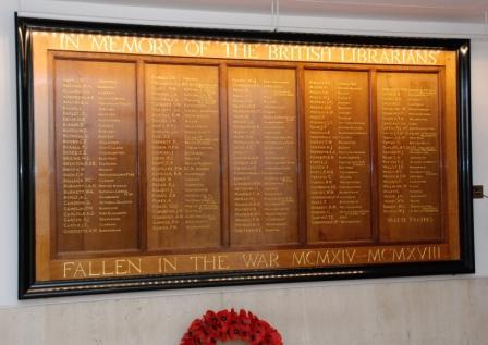 British Librarians' Memorial at British Library