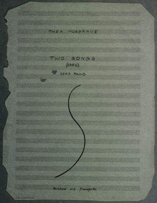 Title-page of two songs by Thea Musgrave, both to texts by Pound