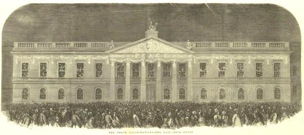 East India House illuminations 1856