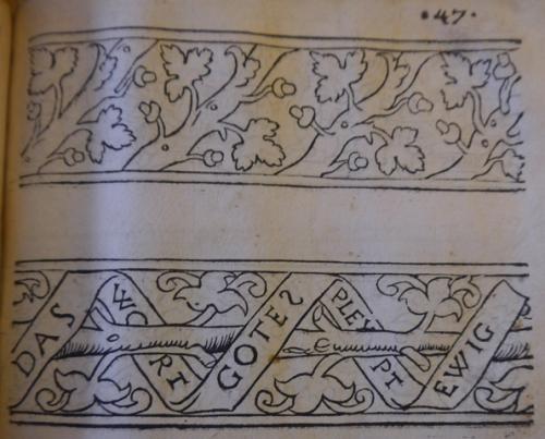 Oaks and inscription